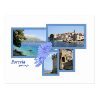 la carte de lettre pour Korcula, la Croatie