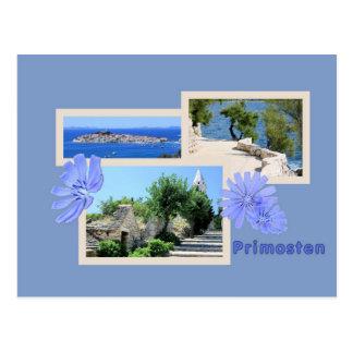 la carte de lettre pour la Croatie
