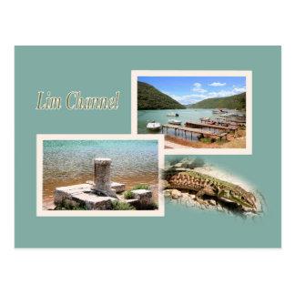 la carte de lettre pour Lim fjord, la Croatie