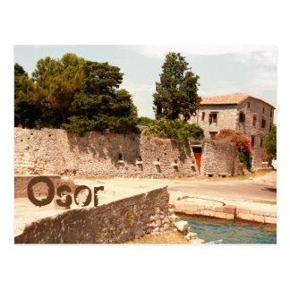 la carte de lettre pour Osor, island Cres, Croatie