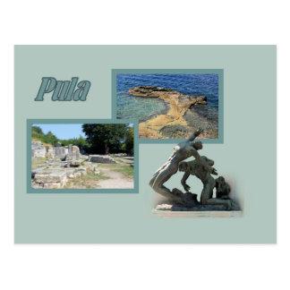 la carte de lettre pour Pula, la Croatie