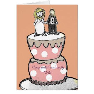 La carte de mariage, félicitations l'épouse