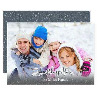 La carte de Noël - photo de famille - Dieu vous