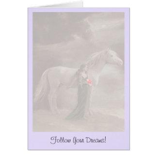 La carte de note suivent votre cheval de rêves que