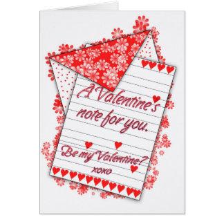 La carte de Saint-Valentin, soit mon Valentine ?