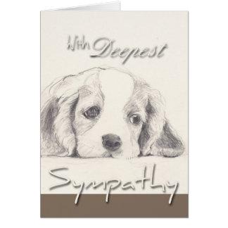 La carte de sympathie la plus profonde de chien de