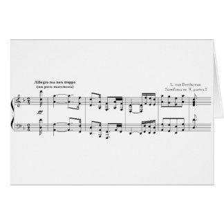 La carte de voeux de no. 9 de symphonie