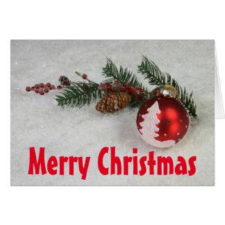 La carte de voeux de Noël, envl standard de wte