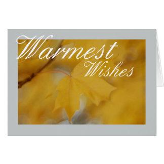 La carte de voeux la plus chaude de souhaits