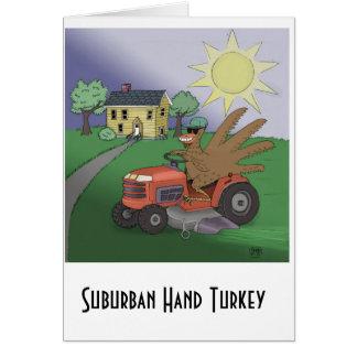 La carte de voeux suburbaine de la Turquie de main