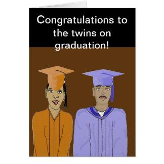 La carte d'obtention du diplôme de jumeaux