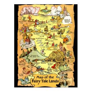 La carte du conte de fées débarque la carte carte postale