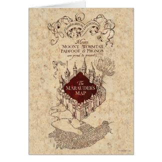 La carte du maraudeur de Harry Potter |