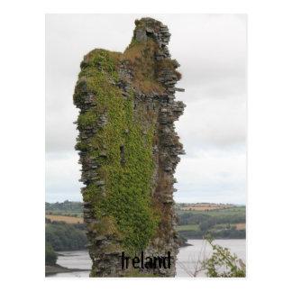 La carte postale de l'Irlande, vieille reste