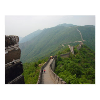 La carte postale de mur chinois