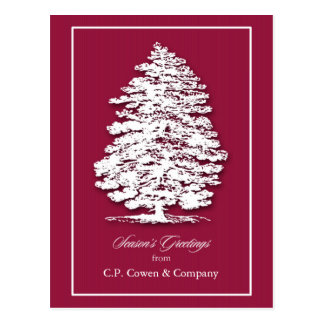 La carte postale de Noël d'affaires/ajoutent la