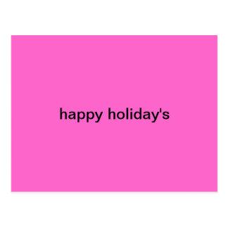 la carte postale des vacances heureuses