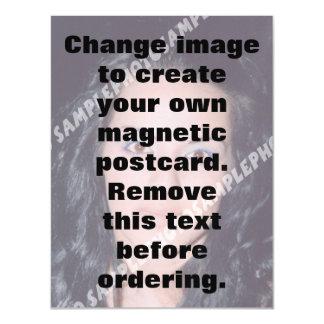 La carte postale magnétique personnalisée de photo