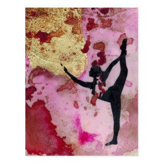 La carte postale originale de fille de yoga