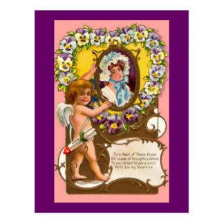 Carte Postale La carte postale vintage de Valentine de cupidon