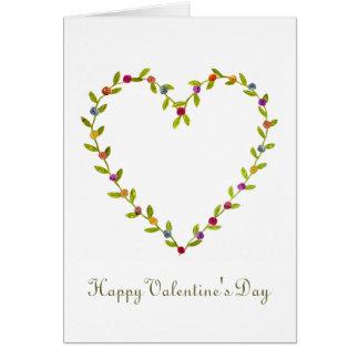 La carte rose de Valentine de coeur de ruban