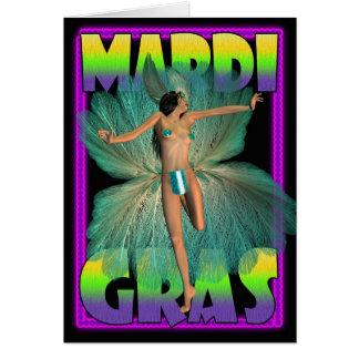 La carte vierge de mardi gras avec le danseur