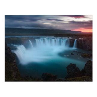 La cascade de Goðafoss en Islande Carte Postale
