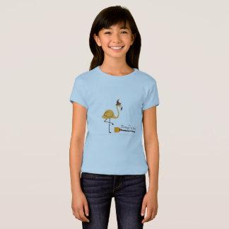 La chemise de bleu de sorcière de flamant t-shirt