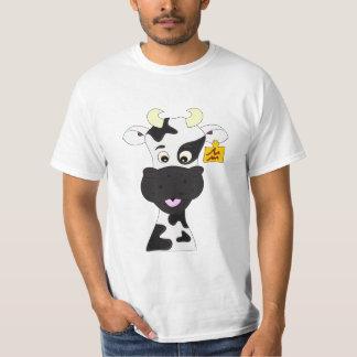 La chemise de vache de l'homme drôle de bande t-shirt