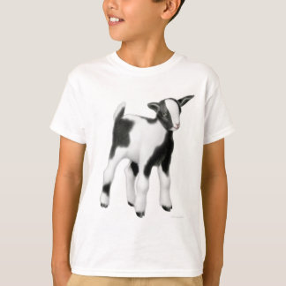 La chèvre mignonne de bébé badine le T-shirt