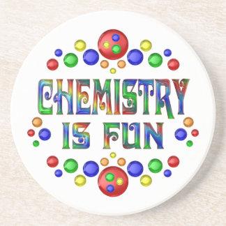 La chimie est amusement dessous de verre en grès