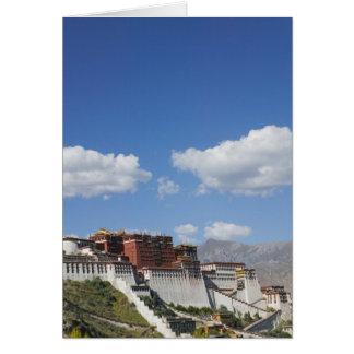 La Chine, Thibet, Lhasa, le Palais du Potala Carte