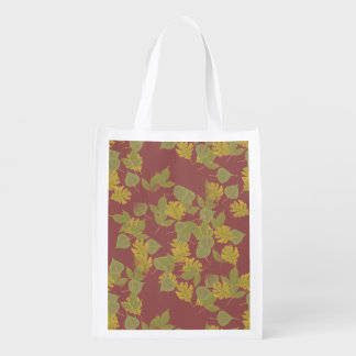 La chute, automne leaves.customize je sac réutilisable