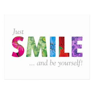 La citation heureuse 02 de sourire - soyez carte postale