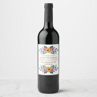 La collection blanche de mariage de guirlande étiquette pour bouteilles de vin