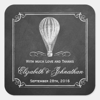 La collection chaude de mariage de ballon à air de sticker carré
