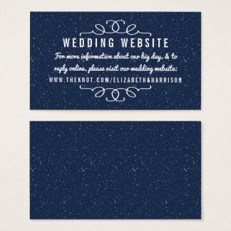 La collection de mariage de nuit étoilée - site cartes de visite