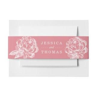 La collection florale de mariage de jolie pivoine bandeaux de faire-part