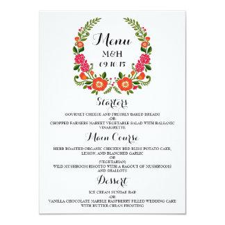 La collection florale moderne de mariage de carton d'invitation  11,43 cm x 15,87 cm