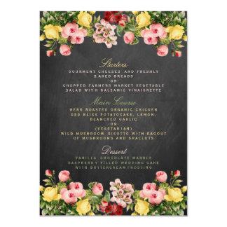 La collection florale vintage de mariage de carton d'invitation  11,43 cm x 15,87 cm