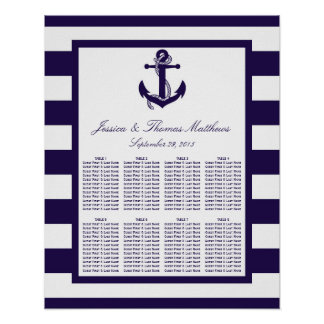 La collection nautique de mariage de rayure de
