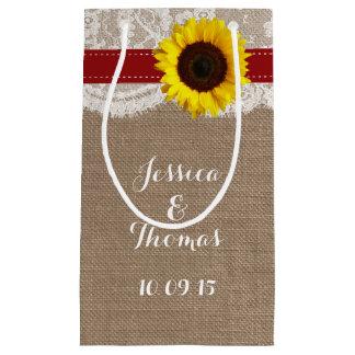 La collection rustique de mariage de tournesol - petit sac cadeau