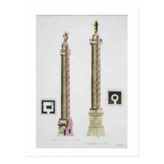 La colonne de Trajan, Rome, de 'Le Costume Ancien Carte Postale