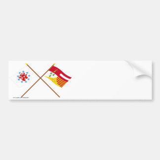 La Communauté et drapeaux de langue allemande croi Autocollant De Voiture