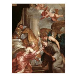 La communion de St Bonaventure Carte Postale