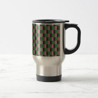 La conception d'art modèle les tuiles classiques mug de voyage en acier inoxydable