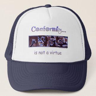 La conformité n'est pas une vertu casquette