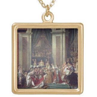 La consécration du napoléon d'empereur collier plaqué or