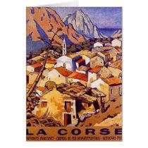 La Corse vintage, France - Carte De Vœux