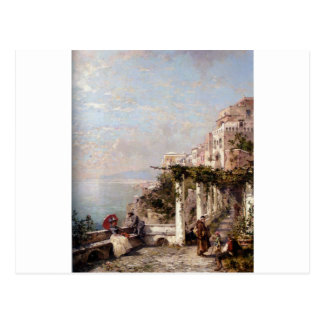La côte d'Amalfi par Franz Richard Unterberger Carte Postale